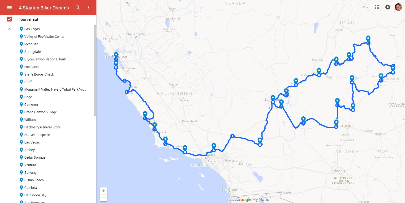 4 Staaten Biker Dreams - Amerika Heller Motorrad-Reisen