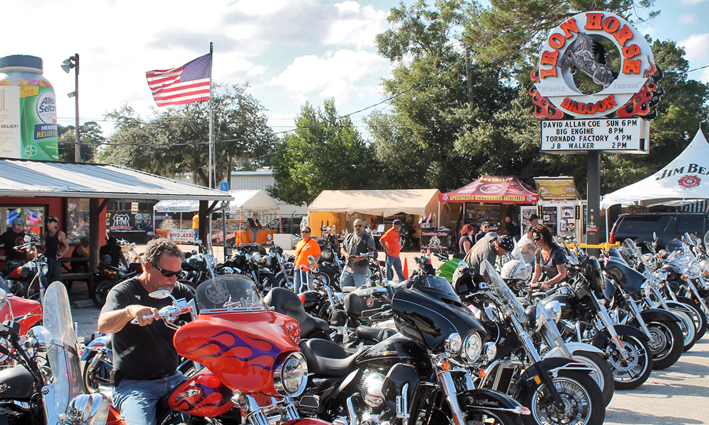 Motorrad-Reisen Florida - Tag 10: Bruce Rossmeyer's Daytona Harley Davidson – Backland Roads – St. Augustine