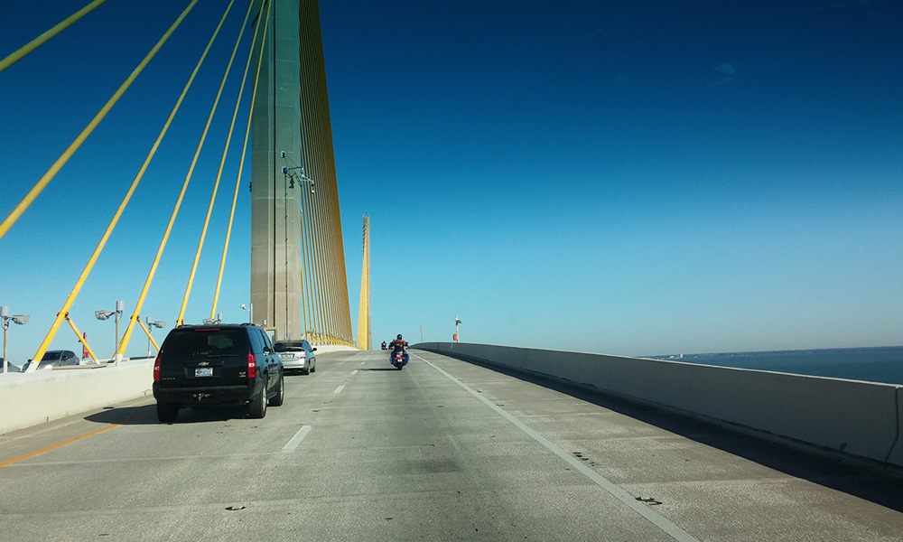Motorrad-Reisen Florida - Tag 2: Tourstart – Lakeland – Tampa – Sunshine Skyway - Bradenton
