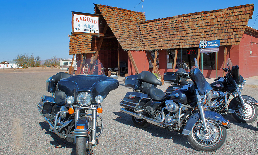 Motorrad-Reisen Big Loop - Tag 10: Historic Route 66 – Bagdad – Amboy – Needles