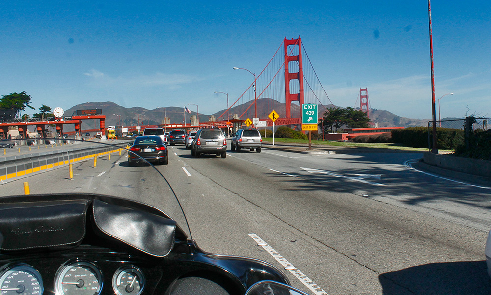 Motorrad-Reisen Big Loop - Tag 6: Pacific Coast Highway 1 – Golden Gate Bridge – San Francisco