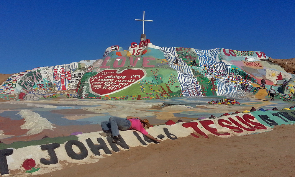 Motorrad-Reisen Golden Nugget Tour - 5. Tag: Joshua Tree Nationalpark – Salton Sea – Salvation Mountain
