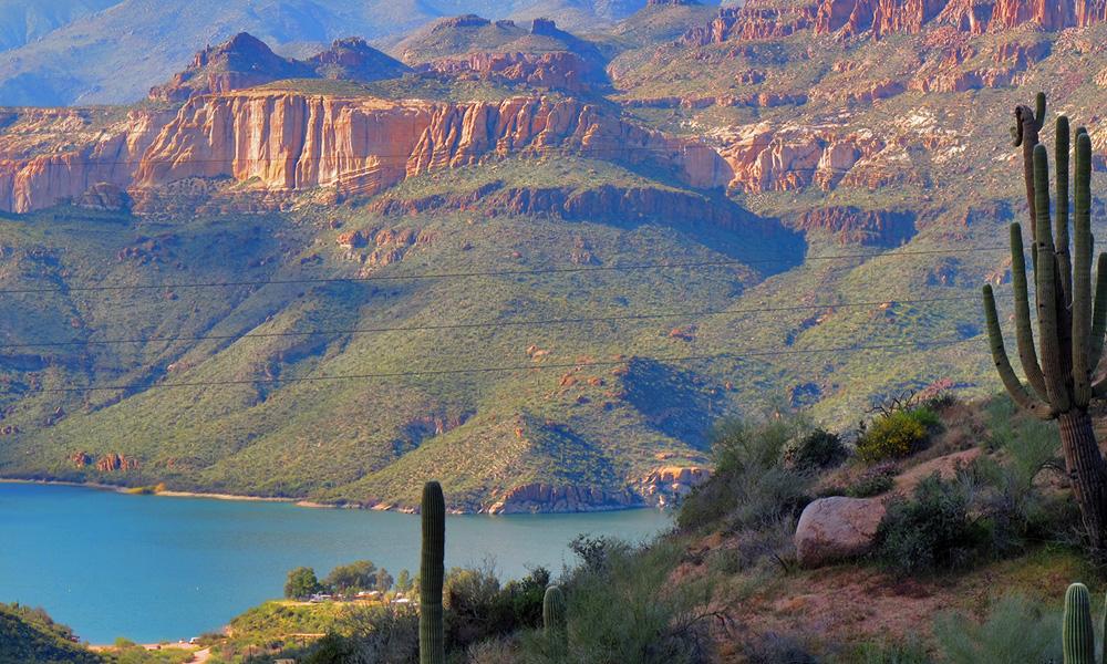 Motorrad-Reisen Golden Nugget Tour - 8. Tag: Phoenix/Scottsdale – Apache Trail – Roosevelt-Lake - Payson
