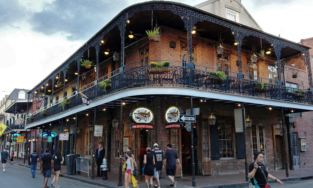 Motorrad-Reisen Historische Südstaaten - New Orleans – French Quarter – Bourbon Street