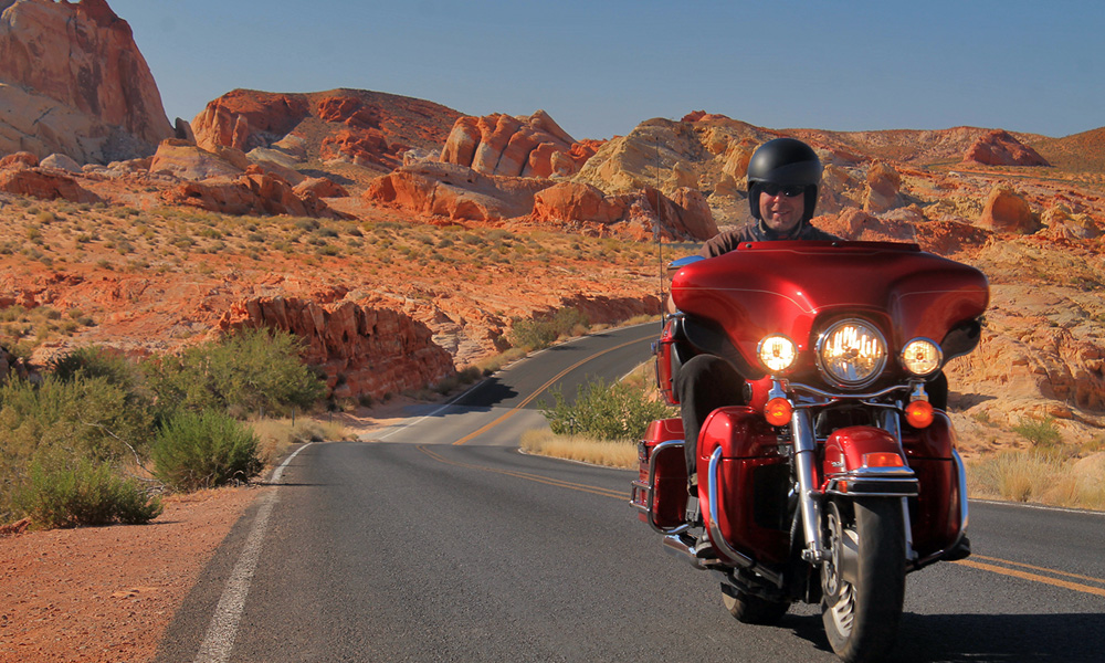 Motorrad-Reisen Süd-West Classic - 2. Tag: Las Vegas – Valley of Fire