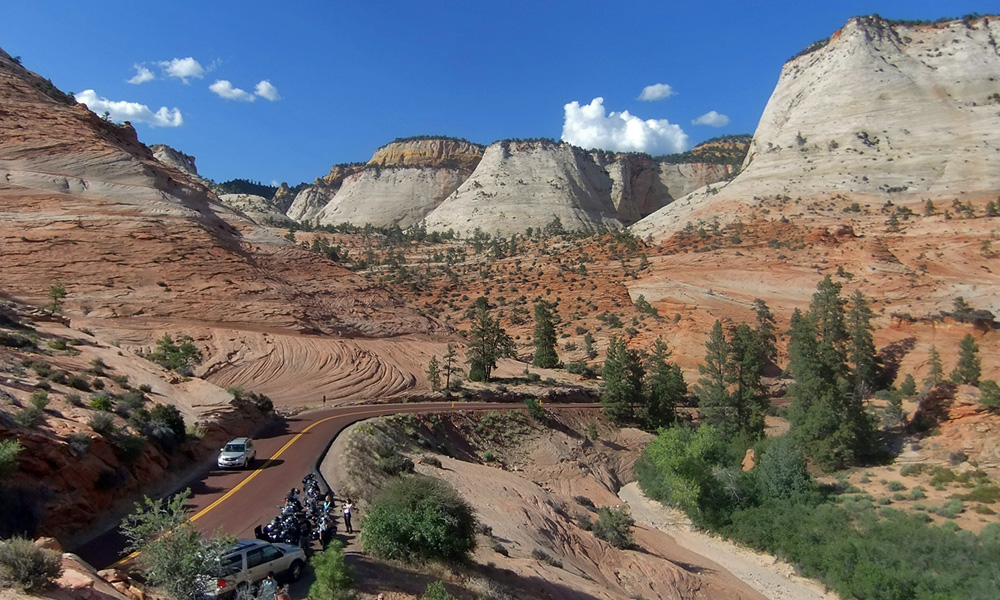 Motorrad-Reisen Süd-West Classic - 3. Tag: Zion Nationalpark – Red Canyons