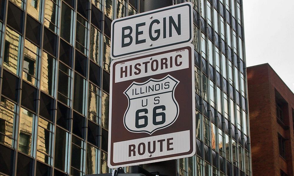 Route 66 - USA Motorradtouren mit der Harley - Chicago-Tourbeginn