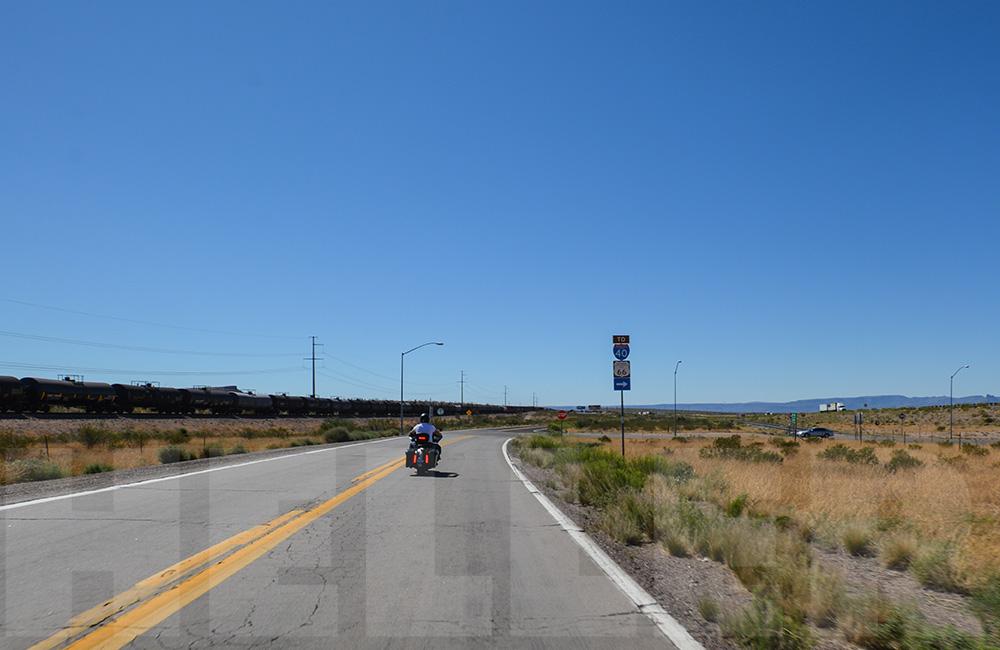 Route 66 mit der Harley - Kingman, AZ