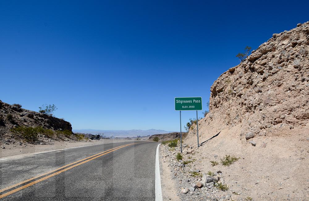 Route 66 mit der Harley - Sitgreaves Pass