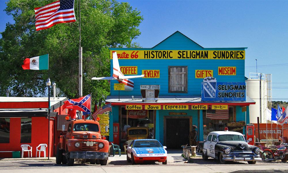 Motorrad-Reisen Seligman - Amerika Heller