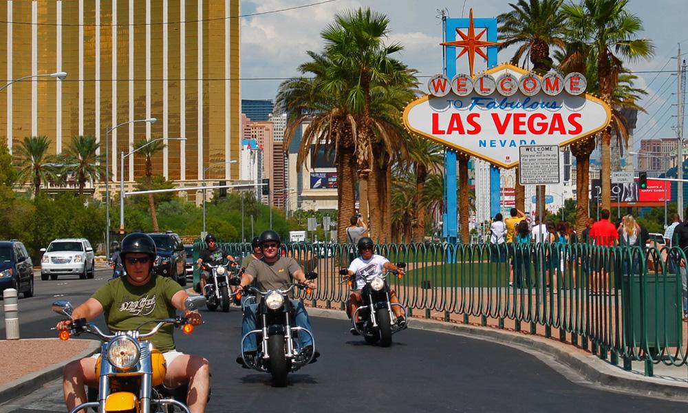 Motorrad-Reisen Las Vegas- Amerika Heller