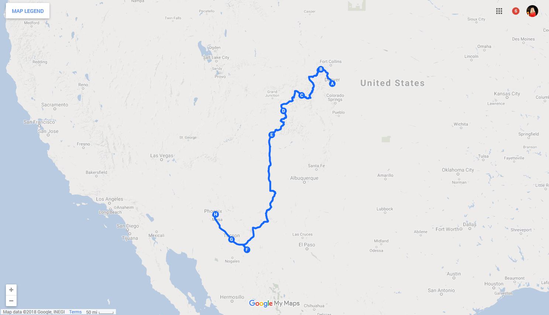 Kurven, Kaktus, Cowboy-Country